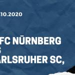 1. FC Nürnberg - Karlsruher SC Tipp 23.10.2020