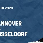 Hannover 96 - Fortuna Düsseldorf Tipp 24.10.2020