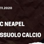 SSC Neapel - Sassuolo Calcio Tipp 01.11.2020