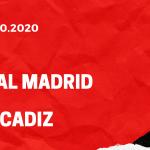 Real Madrid - FC Cadiz Tipp 17.10.2020