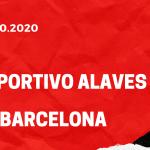 Deportivo Alaves - FC Barcelona Tipp 31.10.2020