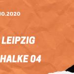 RB Leipzig – FC Schalke 04 Tipp 03.10.2020