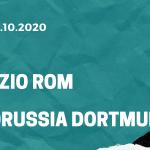 Lazio Rom - Borussia Dortmund Tipp 20.10.2020