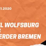 VfL Wolfsburg – SV Werder Bremen Tipp 27.11.2020
