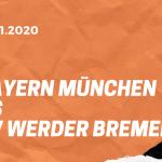 Bayern München – SV Werder Bremen Tipp 21.11.2020