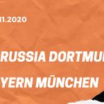 Borussia Dortmund – FC Bayern München Tipp 07.11.2020
