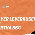 Bayer 04 Leverkusen – Hertha BSC Tipp 29.11.2020