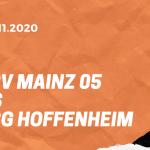 1.FSV Mainz 05 – TSG 1899 Hoffenheim Tipp 29.11.2020