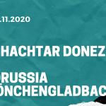 Schachtar Donezk – Borussia Mönchengladbach Tipp 03.11.2020