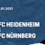 1. FC Heidenheim – 1. FC Nürnberg Tipp 02.01.2021