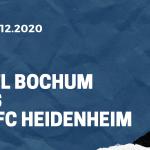 VfL Bochum - 1. FC Heidenheim Tipp 18.12.2020