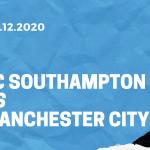 FC Southampton - Manchester City Tipp 19.12.2020