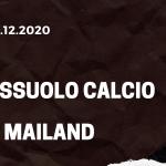 Sassuolo Calcio - AC Mailand Tipp 20.12.2020