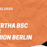 Hertha BSC – 1. FC Union Berlin Tipp 04.12.2020