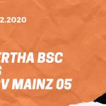 Hertha BSC – 1. FSV Mainz 05 Tipp 15.12.2020