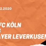 1.FC Köln – Bayer 04 Leverkusen Tipp 16.12.2020