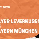 Bayer 04 Leverkusen – FC Bayern München Tipp 19.12.2020