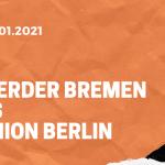 SV Werder Bremen – 1. FC Union Berlin Tipp 02.01.2020