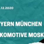 FC Bayern München – Lokomotive Moskau Tipp 09.12.2020
