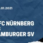 1. FC Nürnberg - Hamburger SV Tipp 09.01.2021