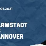 SV Darmstadt 98 - Hannover 96 Tipp 10.01.2021