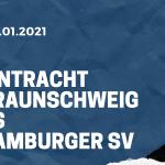 Eintracht Braunschweig - Hamburger SV Tipp 23.01.2021