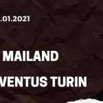 AC Mailand - Juventus Turin Tipp 06.01.2021