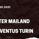 Inter Mailand - Juventus Turin Tipp 17.01.2021