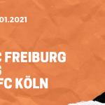 SC Freiburg – 1. FC Köln Tipp 09.01.2020