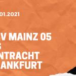 1.FSV Mainz 05 – Eintracht Frankfurt Tipp 09.01.2020