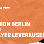 1.FC Union Berlin – Bayer 04 Leverkusen Tipp 15.01.2020