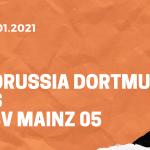 Borussia Dortmund – 1. FSV Mainz 05 Tipp 16.01.2020