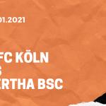 1.FC Köln – Hertha BSC Tipp 16.01.2020