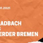 Borussia Mönchengladbach – SV Werder Bremen Tipp 19.01.2020