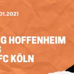 TSG 1899 Hoffenheim – 1. FC Köln Tipp 24.01.2021
