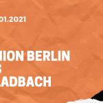 1.FC Union Berlin – Borussia Mönchengladbach Tipp 30.01.2021