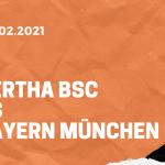 Hertha BSC – FC Bayern München Tipp 05.02.2021