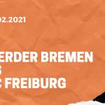 SV Werder Bremen – SC Freiburg Tipp 13.02.2021