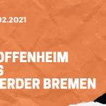 TSG 1899 Hoffenheim – SV Werder Bremen Tipp 21.02.2021