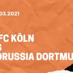 1.FC Köln – Borussia Dortmund Tipp & Quoten 20.03.2021