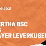 Hertha BSC – Bayer 04 Leverkusen Tipp 21.03.2021