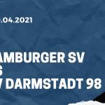 Hamburger SV - SV Darmstadt 98 Tipp 09.04.2021