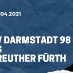 SV Darmstadt 98 - SpVgg Greuther Fürth Tipp 16.04.2021