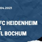 1. FC Heidenheim - VfL Bochum Tipp 21.04.2021
