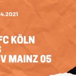 1.FC Köln – 1. FSV Mainz 05 Tipp 11.04.2021