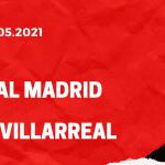 Real Madrid - FC Villarreal Tipp 23.05.2021