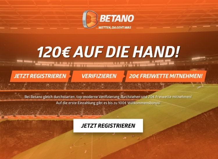 Betano 20€ Freiwette