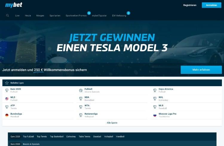 mybet Webseite