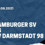 Hamburger SV - SV Darmstadt 98 Tipp 22.08.2021