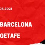 FC Barcelona - FC Getafe Tipp 29.08.2021